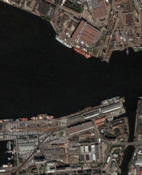 Карта Спутниковая фотография с